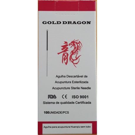 Agulha de Acupuntura 0.30x75 INDIVIDUAL Qizhou
